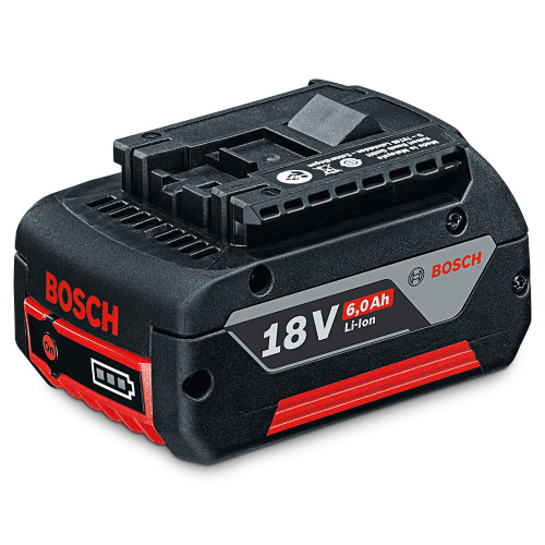 Bosch Blue 18V 6.0Ah GBA Lithium-ion Battery |A photo of the Bosch Blue 18V 6.0Ah GBA Lithium-ion Battery