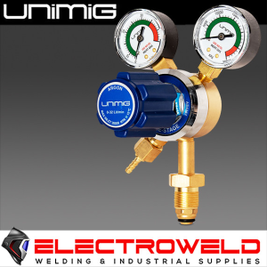 UNIMIG Twin Gauge Argon Gas Regulator, Welding Pressure  - ARGONREG