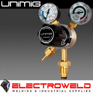 UNIMIG Twin Gauge Oxygen Gas Regulator Welding Flow Meter - OXYREG