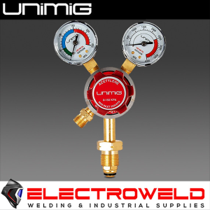 UNIMIG Twin Gauge Acetylene Gas Regulator Welding Flow Meter Acet-Reg Uni-flame