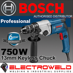 BOSCH 750w 13mm Rotary Drill Metal Keyless Chuck Power Professional Gbm 13-2 Re