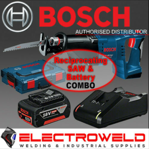 BOSCH 18V Cordless Reciprocating Saw + Battery + Charger - GSA 18V-Li