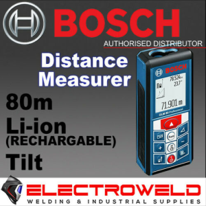 BOSCH 80m Distance Measurer / Laser Rangefinder / Area Measurer / Inclinometer - GLM 80