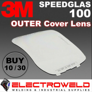 10 x Outside Cover Lens for 3M Speedglas 100 Series Welding Helmet, Outer Plate - 776000