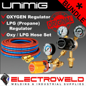 UNIMIG *LPG + Oxygen Regulators, plus Twin Hose Set* - Gas Welding Bundle