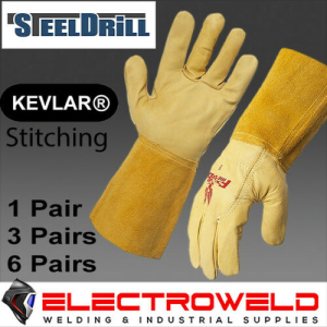 STEELDRILL Firebird Leather Rigger Yellow Gloves, Welding / Work - S,M,L,XXL