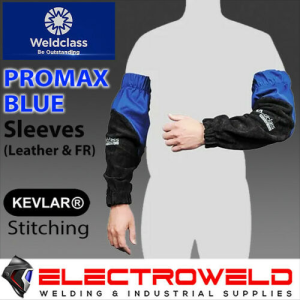 WELDCLASS Leather Welding Sleeves, Promax Blue - WC-05375