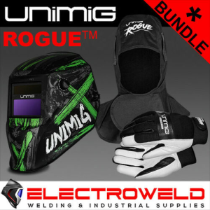 UNIMIG Rogue Welding Protection Bundle - *Toxic Helmet, Hood, Gloves*
