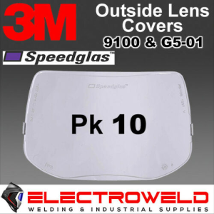 10x Outside Cover Lens, 9100 3M Speedglas Welding Helmet, Outer Protection Plates