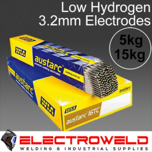 3.2mm WIA Austarc 16TC Low Hydrogen Welding Arc Electrodes - 5kg