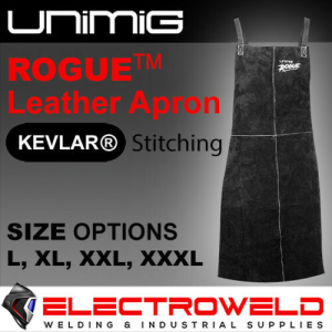ROGUE LEATHER APRON WELDING HEAT FIRE ANTI FLAME PROOF RESISTANT WELDER UNIMIG