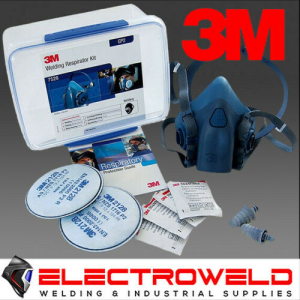 3M P2 Respirator Starter Kit *7500 Half Face Mask + 2128 Filters*, Welding / Gas / Flu / Smoke - 7528