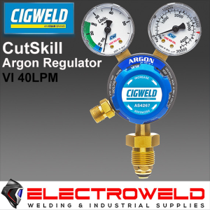 CIGWELD Twin Gauge Argon Gas Regulator / Flowmeter, Welding Pressure