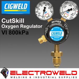 CIGWELD Twin Gauge Oxygen / Oxy Gas Regulator, Welding Pressure