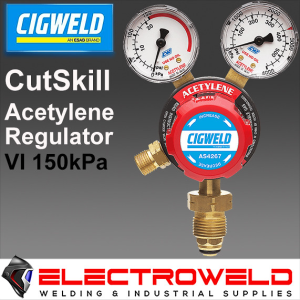 CIGWELD Twin Gauge Acetylene / Acet Gas Regulator, Welding Pressure