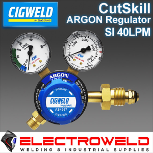 CIGWELD Twin Gauge Argon Gas Regulator Welding Pressure Cutskill - Side Entry