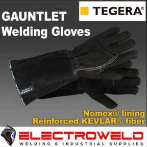 Ejendals TEGERA 134 Gauntlet 395mm Long Welding Gloves, Leather T134 - TEGERA134
