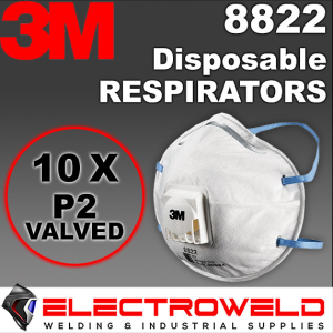 10x 3M Valved P2 Respirators Cup Reusable Smoke Paint Fire Medical Flu Dust 8822