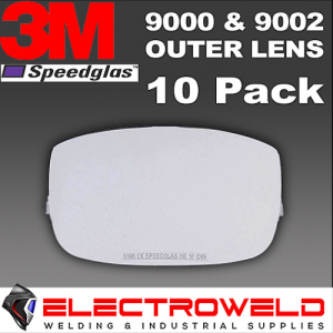 10 x Outside Cover Lens 3M Speedglas 9000 and 9002 9002NC Welding Helmet - 426000