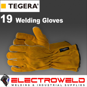 Ejendals Tegera 19 Welding Gloves, Leather Long Cuff, Heat Resistant T19-10 - XL