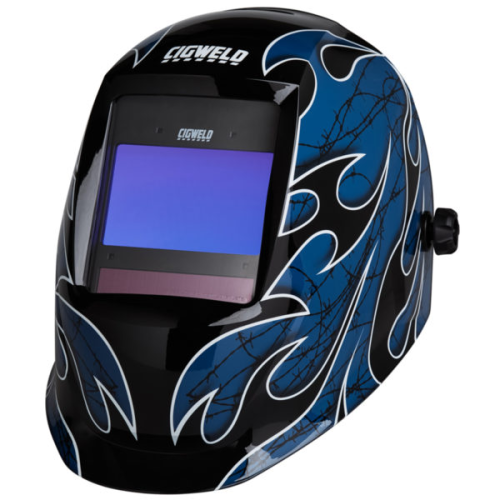 CIGWELD ProPlus Digital Automatic Welding Helmet - Barbed Wire|A photo of the CIGWELD ProPlus Digital Automatic Welding Helmet - Barbed Wire
