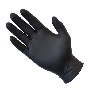 NITRO Black Nitrile Disposable Gloves, Powder Free, Medical / Exam / Surgical x 100