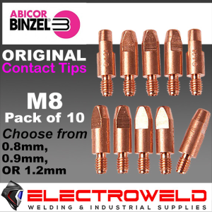 Binzel M8 Aluminium Contact Tips