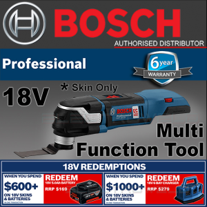 BOSCH Cordless Multi-Cutter Tool Oscillating Starlock Saw, GOP 18V-28 *SKIN