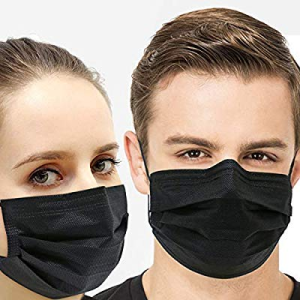 Black Disposable Face Protection Dust Masks (40PCS)