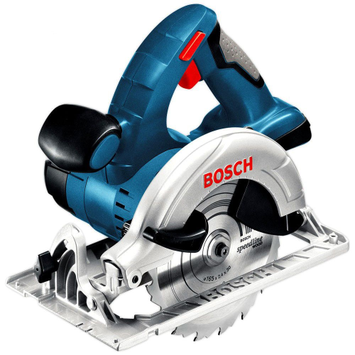 BOSCH 18V 165MM CIRCULAR SAW SKIN|A photo of the BOSCH 18V 165MM CIRCULAR SAW SKIN