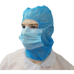Polypropylene Hood with Surgical Face Mask x 500