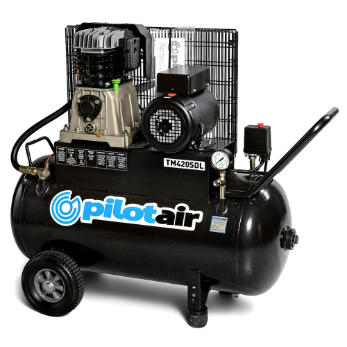 Pilot Air TM420SDL- 100 Litre / 3hp Industrial Air Compressor |A photo of the Pilot Air TM420SDL- 100 Litre / 3hp Industrial Air Compressor