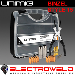 UNIMIG Binzel 15 Style Mig Torch Welding Consumable Starter Kit - UMSK15