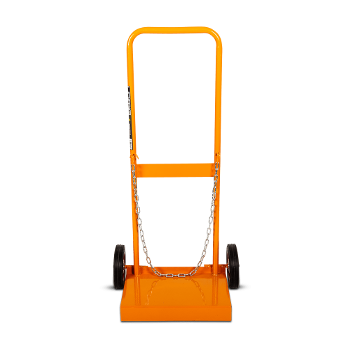 Unimig D Size gas bottle trolley|A photo of the unimig D Size gas bottle trolley