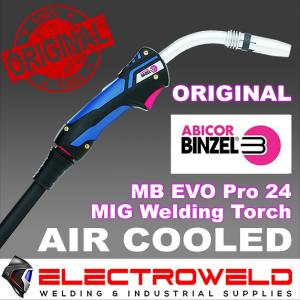 Binzel MB EVO PRO 24 MIG Welding Torch Gun 250A (Air-Cooled) - 3m