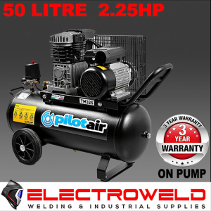 Pilot Air TM325i - 50 Litre / 2.25hp Industrial Air Compressor