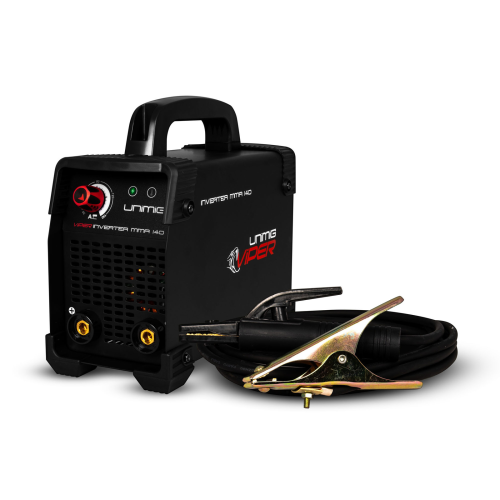 140amp Viper Welder Kit View |A photo of the 140amp Viper welder package with the welder facing right